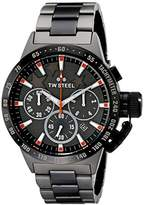 TW Steel Unisex TW313 Canteen Bracelet Analog Display Quartz Black Watch