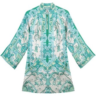 Etro Tree of Wonders Silk Mini Dress