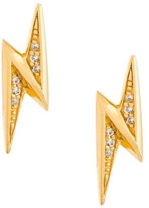 Astley Clarke 'Mini Lightening Bolt Biography' stud earrings