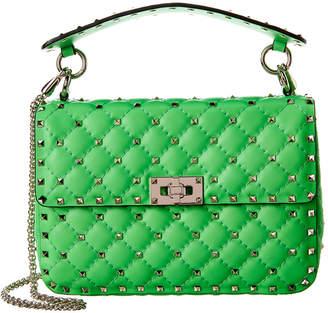 Valentino Rockstud Spike Medium Leather Shoulder Bag