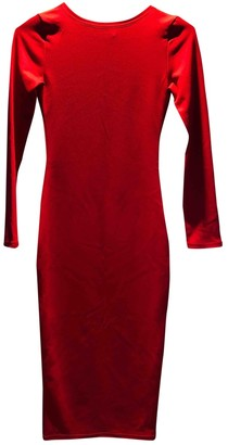 Non Signã© / Unsigned Red Cotton - elasthane Dresses
