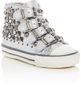 Ash Girls' Viper Metallic Embellished Buckle High Top Sneakers - Walker