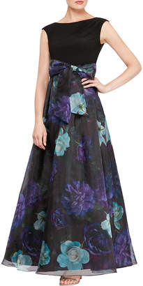 Ignite Cap-Sleeve High-Low Gown