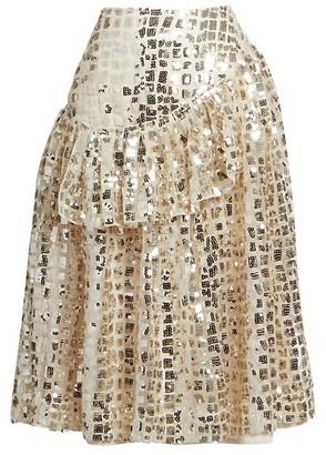 Simone Rocha Sequined Drop-Waist Skirt