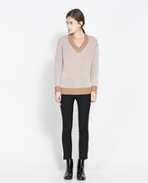 Two-Tone Oversize Sweater
