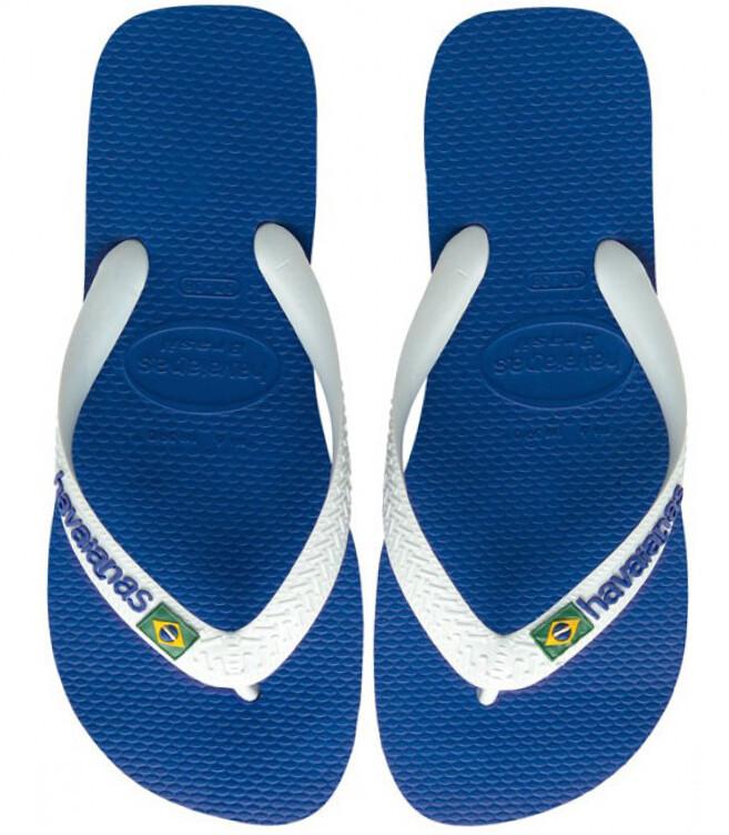 Havaianas Brazil Logo Flip Flops Blue