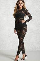 Forever 21 FOREVER 21+ Sheer Lace Jumpsuit