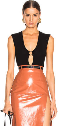 Zeynep Arcay Ring Knit Bodysuit in Black | FWRD