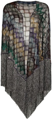 Missoni Fringed Metallic Knitted Top