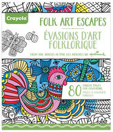Crayola Aged Up Folk Art Adult Colouring Book