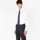 Paul Smith Men's Tailored-Fit White 'Artist Stripe' Double-Cuff Shirt