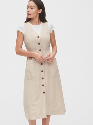Gap Button-Front Midi Dress