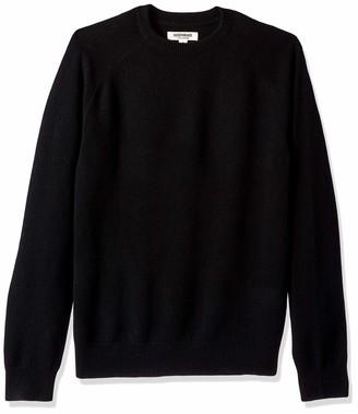 Goodthreads Amazon Brand Men's Lambswool Stripe Crewneck Sweater