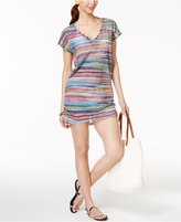 Anne Cole Striped Mesh Tunic Cover-Up