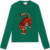 Gucci intarsia tiger jumper - men - Wool - XS
