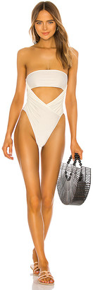 Adriana Degreas High Leg Strapless One Piece