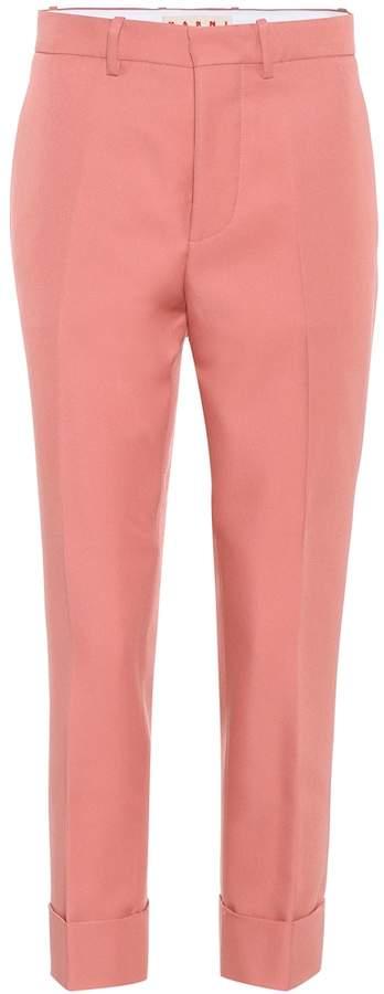 Marni Cropped satin trousers