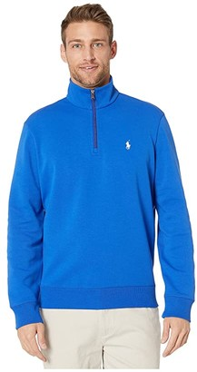 Polo Ralph Lauren Quarter-Zip Double Knit Tech Pullover (Pacific Royal) Men's Clothing