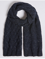 M&S Collection Nepped Cable Knitted Scarf
