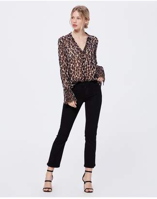 Paige Abriana Shirt - Shale Psychedelic Leopard