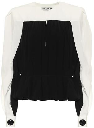 Givenchy Silk-crepe top