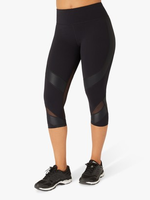 Sweaty Betty Power Mesh Capri Gym Leggings, Black