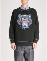 Kenzo Tiger-embroidered cotton-jersey sweatshirt