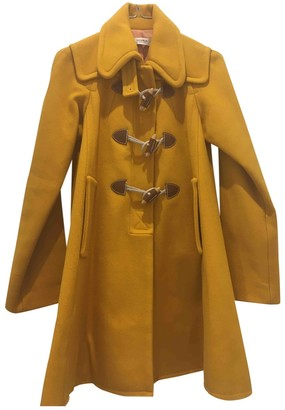 Sonia By Sonia Rykiel Yellow Wool Coats
