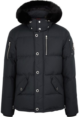Moose Knuckles 3Q Navy Fur-trimmed Quilted Twill Jacket