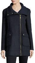 Ellen Tracy Asymmetric Wool-Blend Jacket