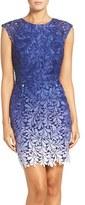 Adelyn Rae Women's Ombre Lace Sheath Dress