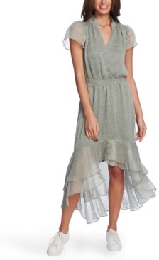 1 STATE Printed High-Low Dress