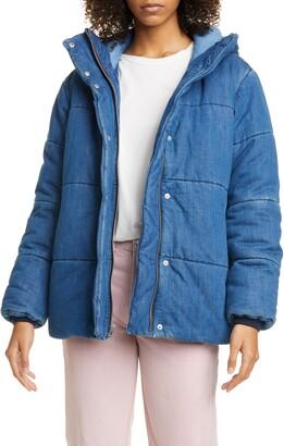 Rag & Bone Denim Puffer Coat
