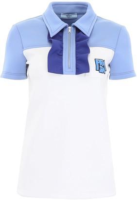 Prada Ruffle-Detail Polo Shirt