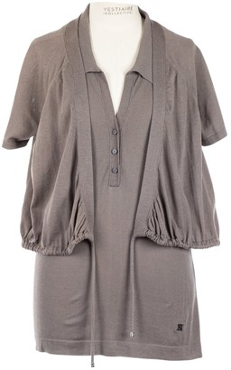 Celine Grey Cotton Top for Women Vintage