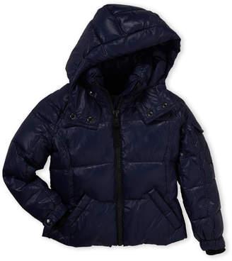 S13 Toddler Girls) Mogul Down Hooded Coat