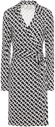 Diane von Furstenberg New Jeanne Two Printed Silk-jersey Wrap Dress