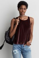American Eagle Outfitters AE Wrap Back Velvet Tank
