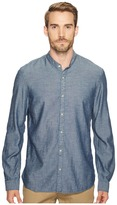 John Varvatos Button Down Long Sleeve Shirt w/ Band Collar W546T2B Men's Clothing