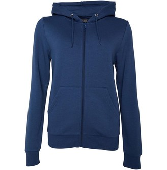 Fluid Womens Zip Through Hoodie Dark Denim