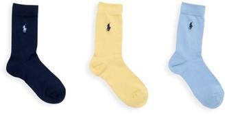 Ralph Lauren Three-Pack Supersoft Flat Sock Set