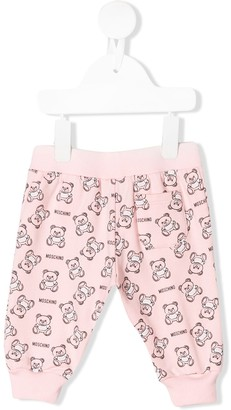 Moschino Kids teddy outline track pants