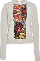 Barrie Floral Intarsia Cashmere Sweater