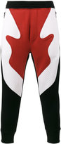 Neil Barrett tri colour panelled track pants