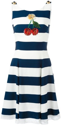 Dolce & Gabbana cherry patch striped dress