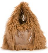 MM6 MAISON MARGIELA faux fur hobo tote
