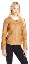 Lucky Brand Women's Collarless Moto Jacket