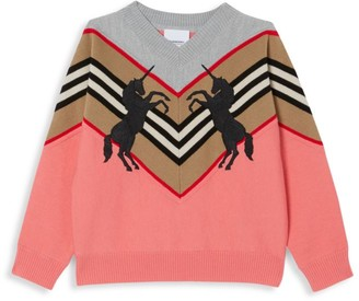 Burberry Little Girl's & Girl's Nadie Unicorn Sweater