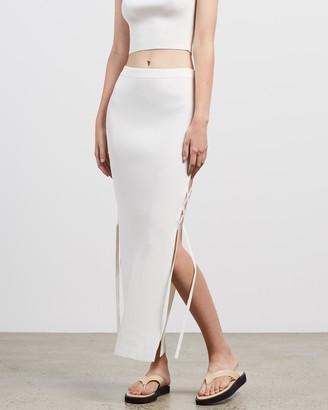 Bec & Bridge Bec + Bridge - Women's White Pencil skirts - Lola Midi Skirt - Size 10 at The Iconic