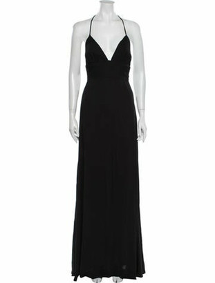 Reformation V-Neck Long Dress w/ Tags Black